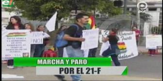 Video titulares de noticias de TV – Bolivia, noche del martes 20 de febrero de 2018