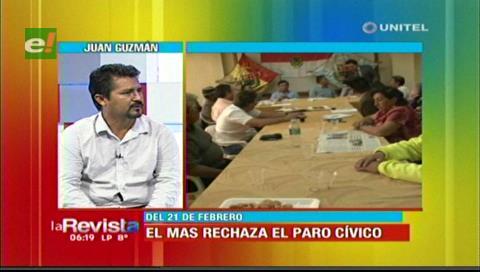 El MAS en Santa Cruz rechaza paro cívico del 21 de febrero y descarta movilizaciones