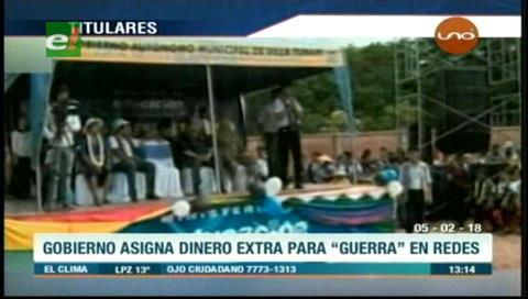 Video titulares de noticias de TV – Bolivia, mediodía del lunes 5 de febrero de 2018