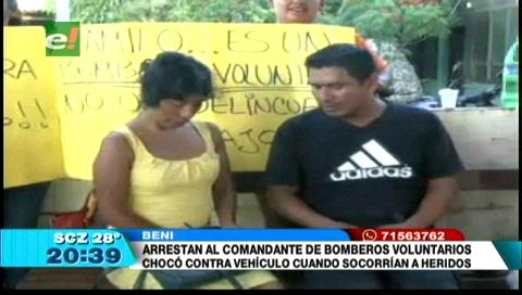 Beni: Surge apoyo ciudadano a bombero voluntario detenido