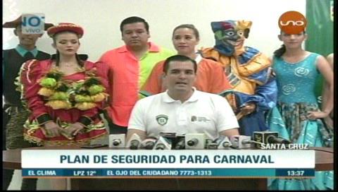 """Gobernación cruceña lanza campaña """"Por un Carnaval sin excesos"""""""