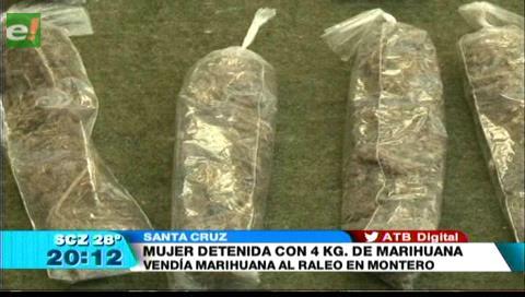 Mujer es detenida con 4 kilos de marihuana en el penal de Montero
