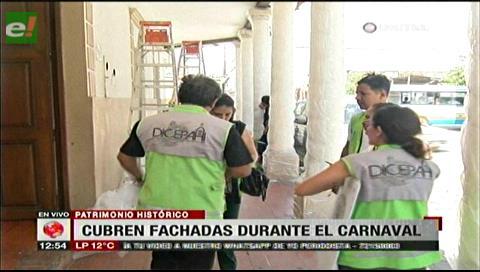 Carnaval: Alcaldía cruceña protege las fachadas patrimoniales en el centro histórico