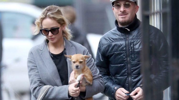 Jennifer Lawrence con su última pareja, el director Darren Aronofsky (Grosby)
