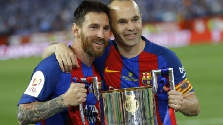 Andres Iniesta y Lionel Messi conforman una dupla letal en Barcelona