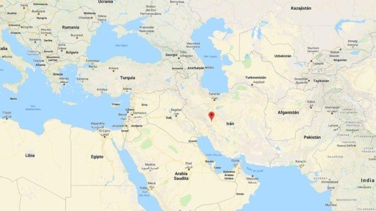 Mapa de la ubicación de Sehr-i Kurd