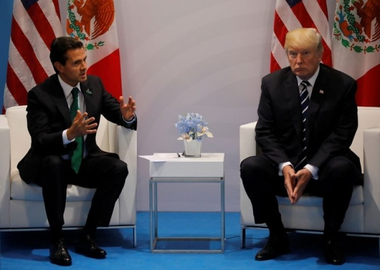Enrique Peña Nieto y Donald Trump en la cumbre del G-20 (Reuters)