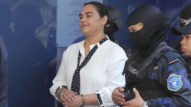 Rosa Elena Bonilla en su llegada a los Tribunales en Materia de Corrupción el pasado 2 de marzo en Tegucigalpa. Gustavo Amador / Efe