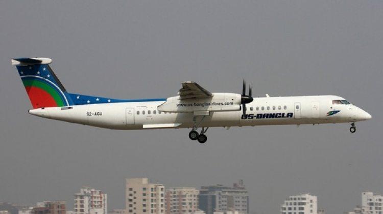 Un Bombardier Dash 8 Q400 de la aerolínea US-Bangla
