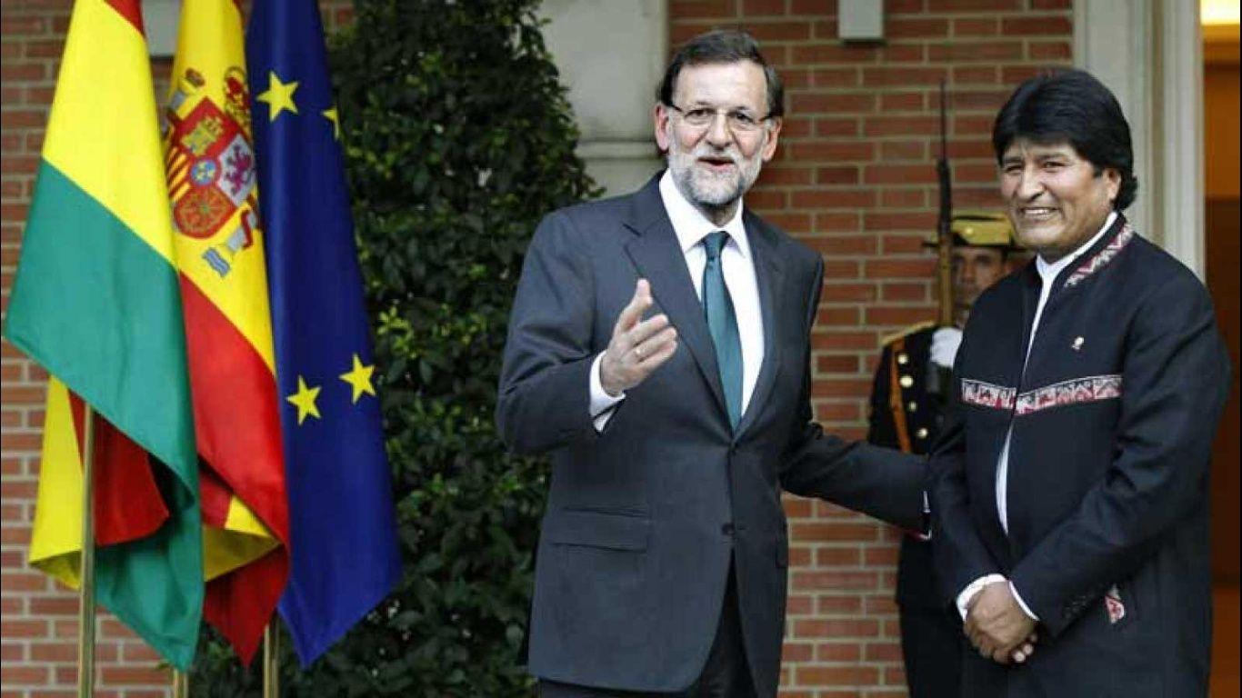 Rey de España recibe a presidente de Bolivia