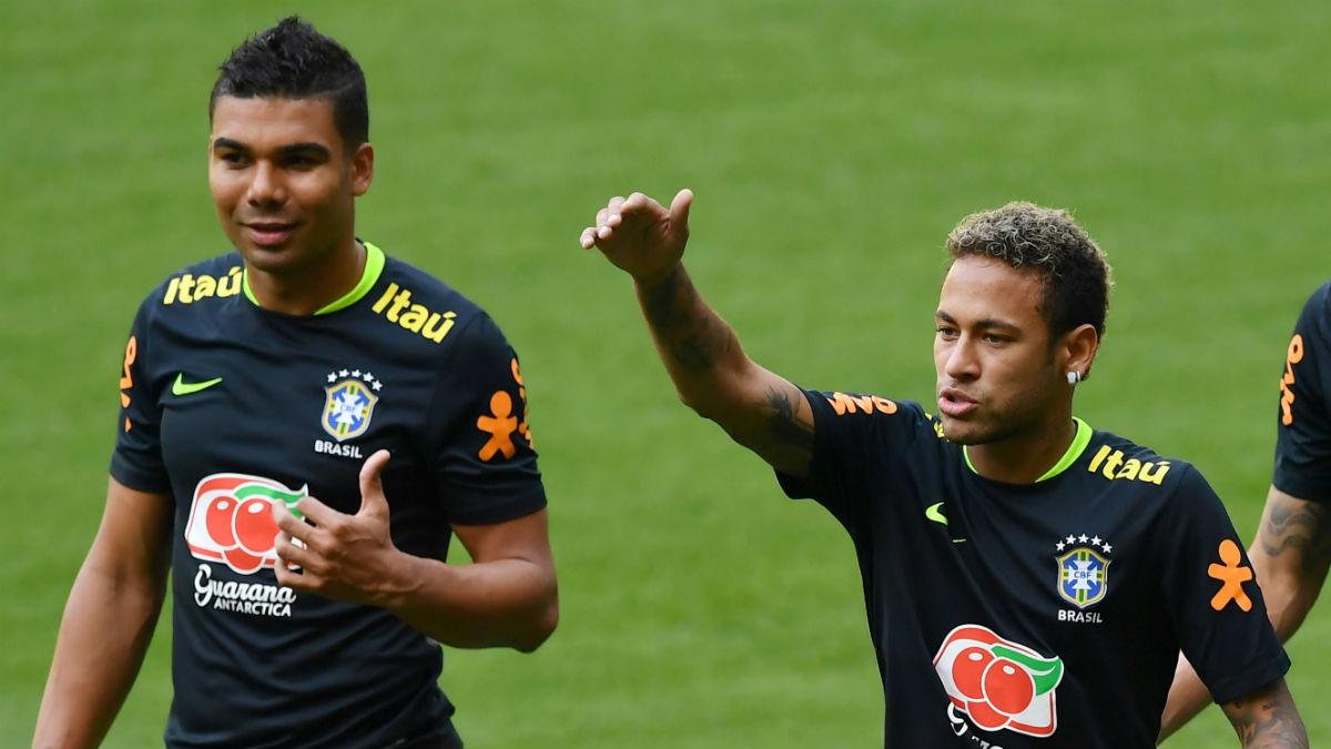 Resultado de imagen para neymar y casemiro brasil