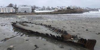 Los vientos del Nordeste revelan los restos de un barco de la Guerra Revolucionaria