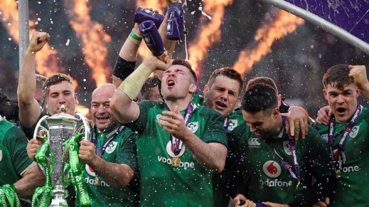 En San Patricio, Irlanda coronó su título en el Seis Naciones con un Grand Slam. (Reuters)