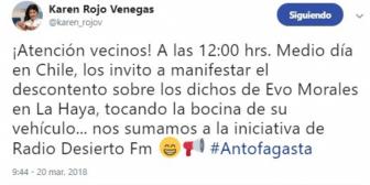 Alcaldesa de Antofagasta invita levantar la bandera chilena en territorio que fue de Bolivia
