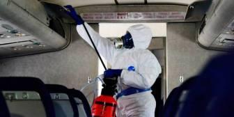 Así se propaga un virus en un avión