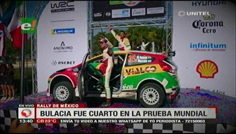 Bulacia hijo es cuarto en el grupo WRC2 del Rally Guanajuato