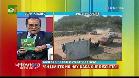 Incahuasi: Sociedad de Estudios Geográficos afirma que no hay nada que discutir de límites