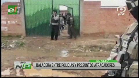 Al menos un 'monrrero' muere abatido por la Policía en persecución en El Alto