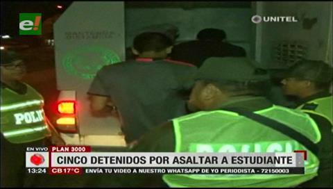 Cinco detenidos por atracar a un estudiante