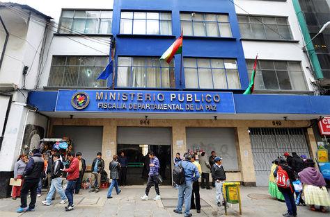 Oficinas de la fiscalía departamental de La Paz, ubicada en la calle Potosí.