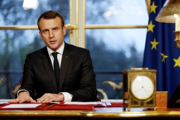 Macron justificó ataque por presunto uso de armas químicas