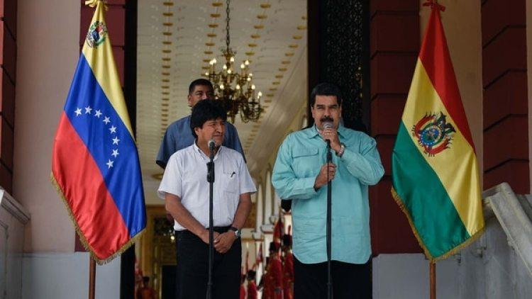 El encuentro entre Evo Morales y Nicolás Maduro se celebró un día después de la Cumbre de las Américas (AFP)