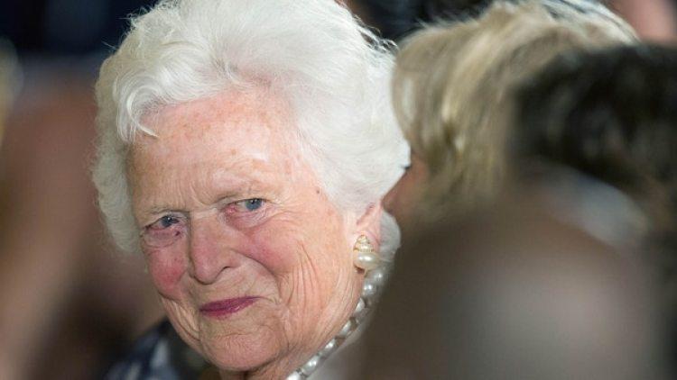 Barbara Bush tiene 92 años (AFP)