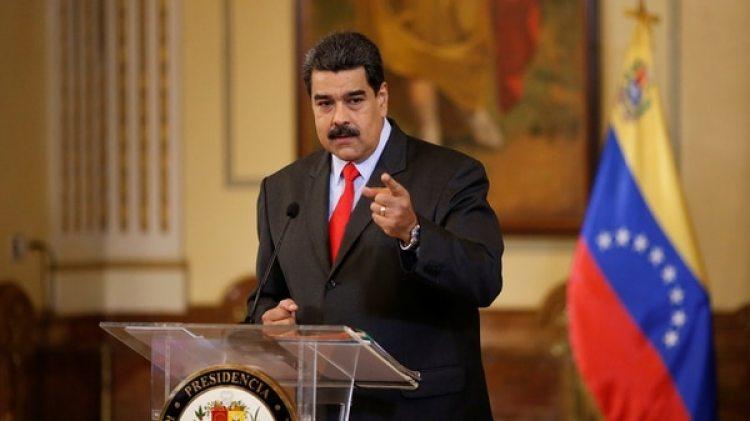 Nicolas Maduro durante una conferencia de prensa en Caracas (Reuters)