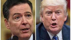 Un enfurecido Donald Trump arremete contra James Comey, ex director del FBI, por polémico libro