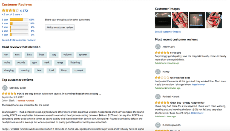Una característica que comparten los comentarios pagos es la generosa cantidad deestrellas.