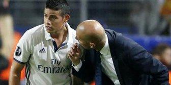 ¿Tuvo un problema Zinedine Zidane con James Rodríguez en el Real Madrid?