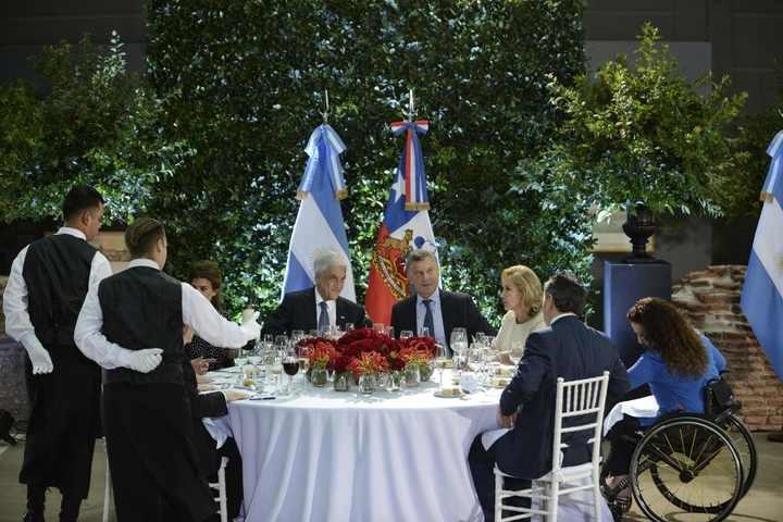 Almuerzo del presidente Mauricio Macro junto al de Chile Sebastián Piñera en el Museo Bicentenario la Casa Rosada.Fotos Emmanuel Fernández - FTP CLARIN _AUX2143-01.jpg Z EFernandz Efernandez