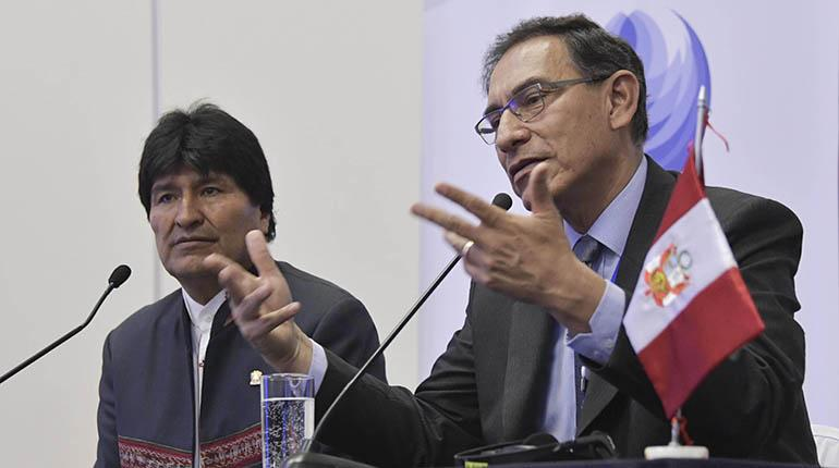 Morales plantea a Vizcarra exportar gas desde puerto peruano de Ilo