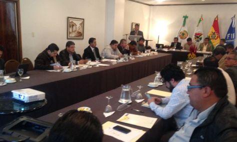 La reunión del Consejo Superior realizada en La Paz. Foto: La Razón