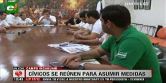 Comité Cívico cruceño alista bloqueos y tomas simbólicas por las regalías de Incahuasi