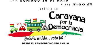 Plataformas invitan a Caravana por la Democracia el 20 de mayo