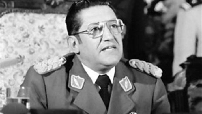Luis García Meza, en la época de dictador de Bolivia.
