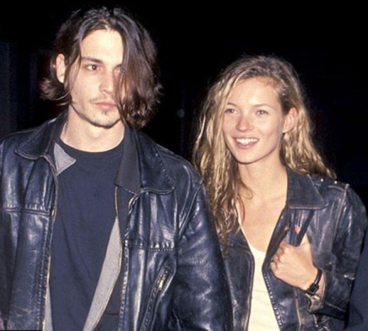 Johnny Depp y la modelo Kate Moss