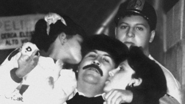 Escobar en familia, poco antes del final