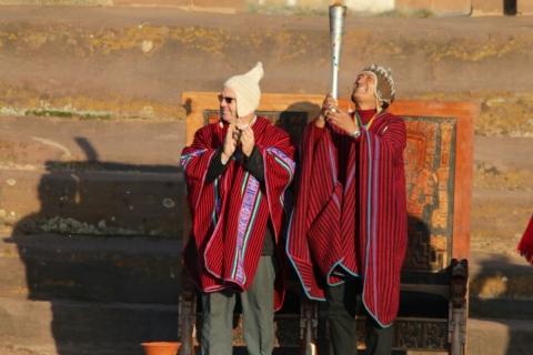 El fuego suramericano de Cochabamba 2018 se enciende en Tiwanaku