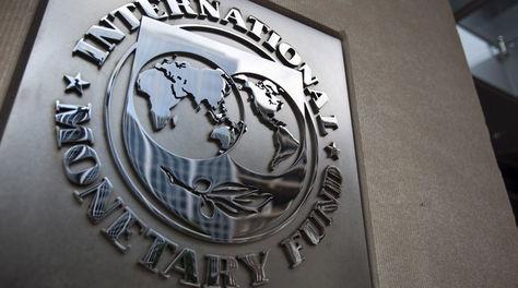El letrero en la fachad d ela sede del FMI en washington. Foto: Archivo EFE