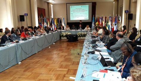 En sesión, la Primera Reunión de Ministros de Educación de América Latina y el Caribe E2030. Foto: Ministerio de Educación