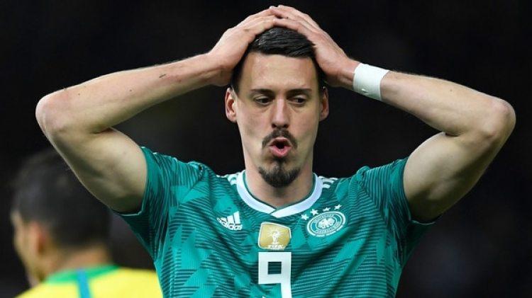 Sandro Wagner fue ocho veces internacional con Alemania pero no irá al Mundial (AFP)