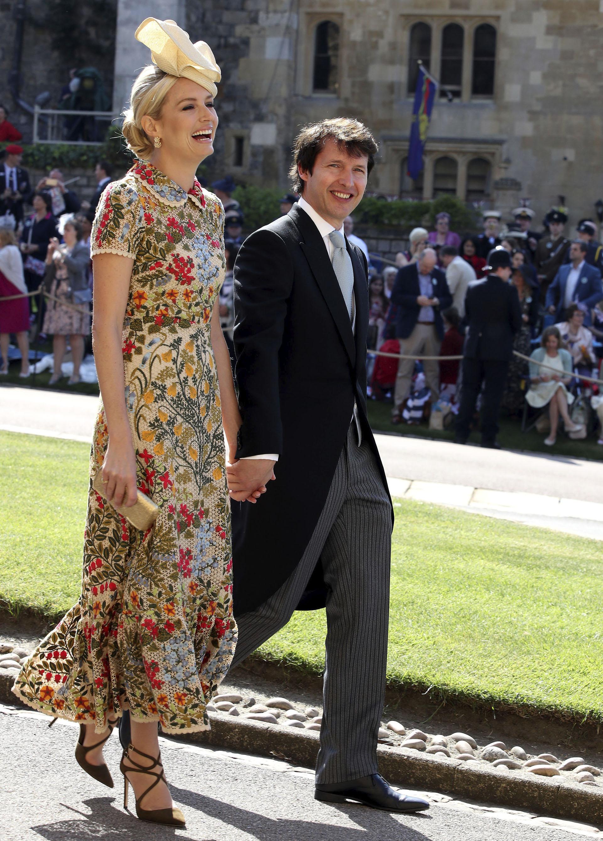 El cantante James Blunt y su esposa Sofia Wellesley entre los famosos invitados de Meghan Markle y el príncipe Harry