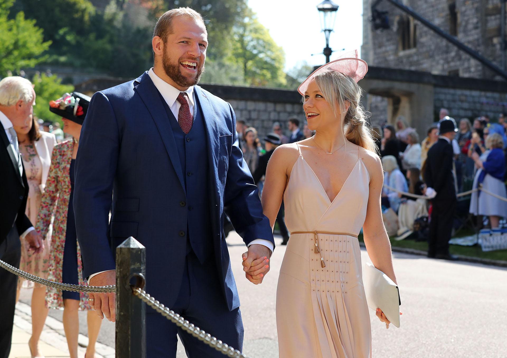 El jugador del rugby James Haskell y Chloe Madeley