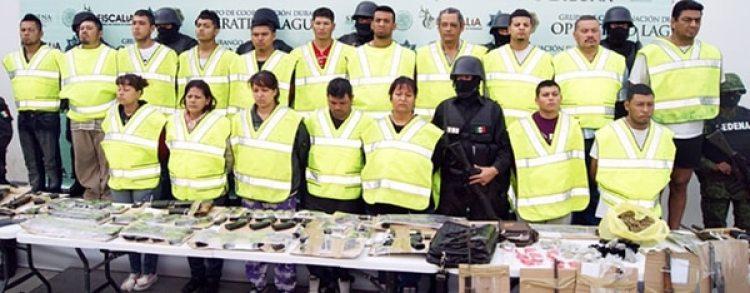 Integrantes del Cártel de La Laguna involucrados en los ataques al periódico El Siglo de Torreón.