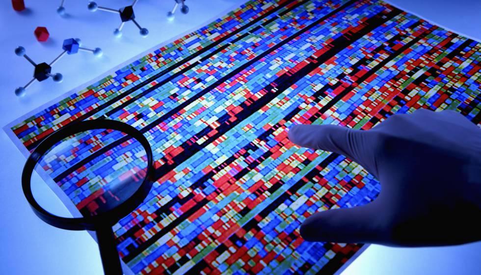 Representación de una secuenciación de ADN de una persona