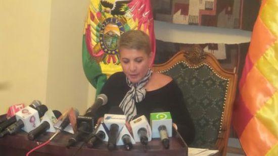 La presidenta de la Comisión Odebrecht en conferencia de prensa.