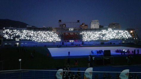 Vista del estadio Félix Capriles de Cochabamba.