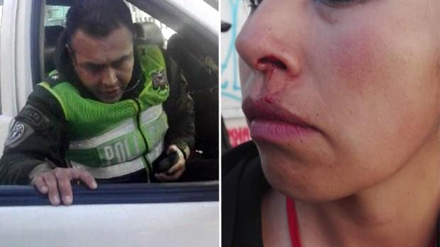 ¡Insólito! Teniente agrede a funcionaria municipal y la Policía aprehende a la víctima